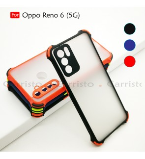 Oppo Reno 6 5G Phantom Shockproof Protection Case Housing Silicone Hard Back Cover Phone Mobile Casing Camera Protect