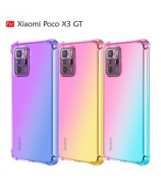 Xiaomi Poco X3 GT Anti-Shock Case Cover Rainbow Aurora TPU Soft Casing Mobile Phone Housing