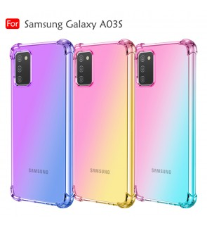 Samsung Galaxy A03S Rainbow Aurora Anti-Shock Case Cover Back TPU Soft Casing Mobile Phone Housing