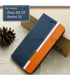 Xiaomi Poco X3 GT Redmi 10 Horizon Luxury Flip Case With Card Slot Bag Cover Stand Pouch Leather Casing Phone Housing