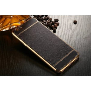 Oppo A77 R9S Neo 9 A37F A57 Plating Leather Tpu Soft Case Cover Casing