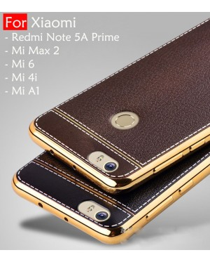 Xiaomi Redmi Note 5A Prime Mi Max 2, Mi 6i Mi A1 Plating Leather Soft Case Cover