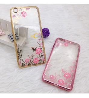 Vivo X9 Secret Garden Plating TPU Soft Case Cover Casing