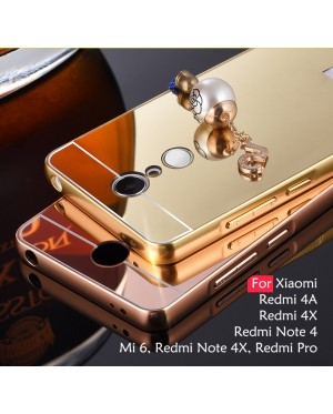 buy popular 57a42 99b1e Mirror Metal Case for Xiaomi Redmi Note 4, Redmi Note 4X, Redmi 4A ...