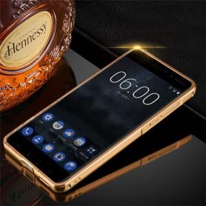 Nokia 6 Mirror Metal Bumper Cover Case Casing