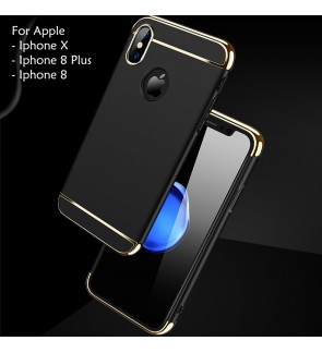 Apple Iphone 8 3 in 1 Hard Case Cover Casing