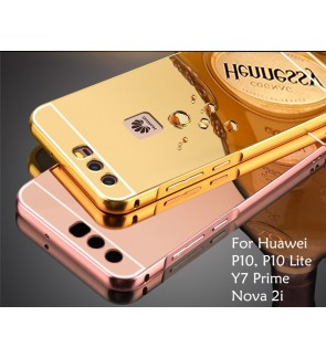 Huawei Nova 2i Y7 Prime P10 / P10 Lite Mirror Metal Cover Case Casing Housing