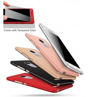 Xiaomi Mi A1 Redmi Note 5A Prime Redmi 5A 360 Full Cover Case Tempered Glass
