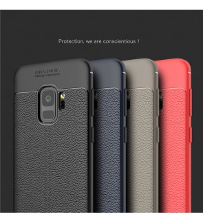 Samsung Galaxy S9 S9 Plus J2 Pro 2018 TPU Leather Grain Soft Case Cover