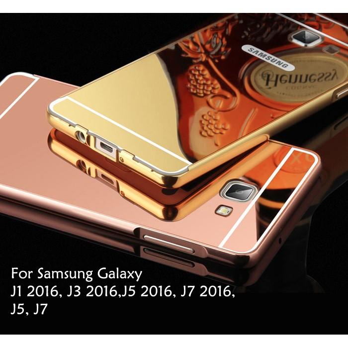 Samsung Galaxy J1 J3 J5 J7 2016 2015 Mirror Cover Case Casing