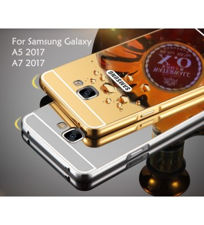 Samsung Galaxy A5 2017 A7 2017 Mirror Cover Case Casing Housing