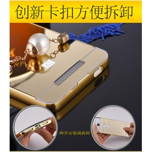 Xiaomi Redmi 3 Mirror Cover Case Casing Aluminium Bumper Hard Back Housing