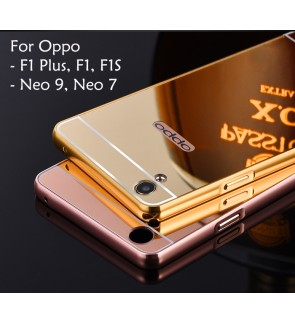 Oppo F1 F1 Plus F1S Neo 7 Neo 9 A37 A37F Mirror Cover Case Casing Housing
