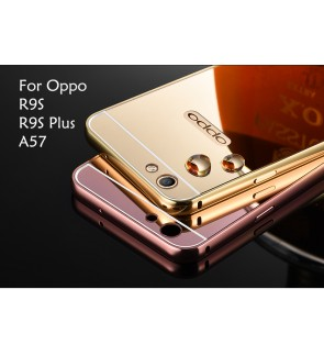 Oppo R9S R9S Plus A57 Mirror Metal Cover Case Casing Housing