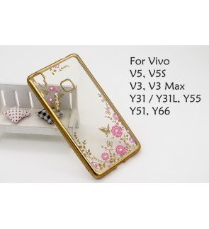 Vivo V5 V5S V3 Max Y31 Y31L Y55 Y66 Y51 Plating Case Cover Casing