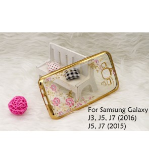 Samsung J3 J5 J7 2016 2015 Plating Secret Garden Case Cover Casing Housing
