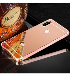 Xiaomi Redmi Note 5 Mirror Metal Bumper Case Cover Casing