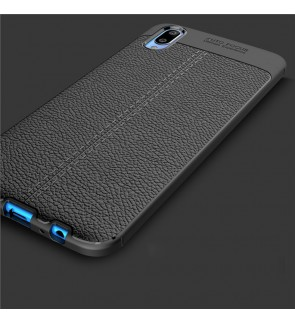 Vivo X21 Finger Print Hole V11 V11i TPU Leather Soft Case Cover Casing