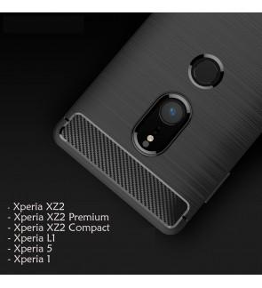 Sony Xperia 1 Xperia 5 XZ2 XZ2 Compact XZ2 Premium Xperia L1 XZ4 Case Cover Casing TPU Silicone Soft Brushed Housing