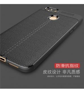 Oppo F7 F9 A3S TPU Dermatoglyph Leather Grain Soft Case Cover