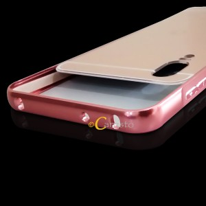 Huawei Honor 10 Nova 3E Mirror Metal Bumper Case Cover Casing