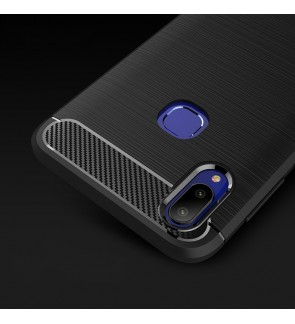 Vivo V11 V11i Y83 Durable Carbon Brushed TPU Silicone Soft Case Cover Casing