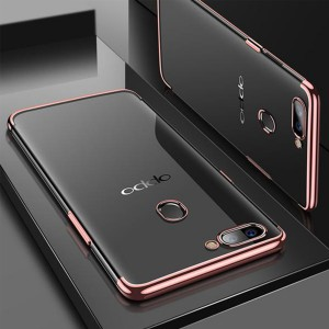 Oppo A3S A7 R17 Pro Oppo F9 A5S TPU Soft Case Cover Casing Housing Electroplate