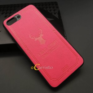Huawei Honor 10 V10 Nova 3 Vintage Deer Canvas Fabric Soft Case Cover Casing