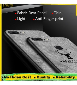 Oppo F5 A3S Vintage Deer Canvas Fabric Soft Case Cover Casing