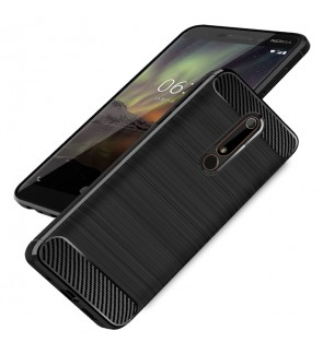 Nokia 5.1 Plus Nokia 6.1 Plus Nokia 1 Brushed Silicone Soft Case Cover Casing
