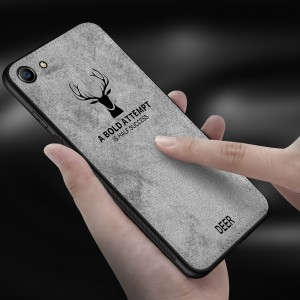 Oppo F1S R9S Plus A83 Vintage Deer Canvas Fabric Soft Case Cover Casing