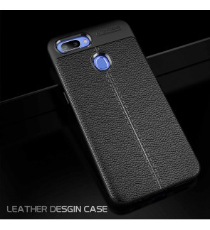 Realme 2 Pro TPU Soft Case Cover Casing HousingDermatoglyph Leather Grain