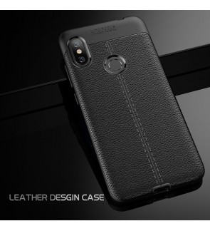 Xiaomi Redmi Note 6 Pro Mi Max 3 Mi 8 Lite Soft Case Cover TPU Leather Grain