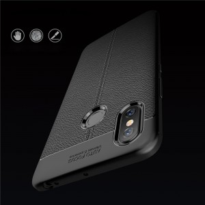 Xiaomi Redmi Note 6 Pro Mi Max 3 Mi 8 Lite Soft Case Cover TPU Leather Grain