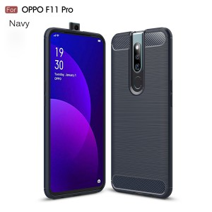 Oppo F11 Pro R17 Pro Oppo A7 TPU Silicone Soft Case Cover Casing Carbon Brushed