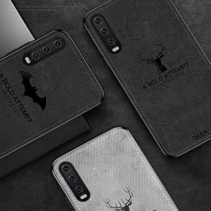 Oppo F11 Pro Reno 10X Zoom A7 Oppo R17 Pro A50S Fabric Soft Case Cover Casing Vintage Deer Canvas