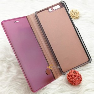 Vivo Y91 Y91i Y95  Y81 Y81i Mirror Flip Pouch Case Cover Casing Auto Sleep Wake