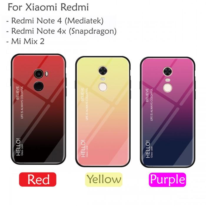 Gradient Aurora Tempered Glass Case Cover For Xiaomi Redmi Note 4 Rhcarristoeshop: Glass Case Xiaomi