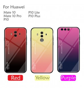 Huawei P10 Lite P10 Plus Mate 10 Pro Case Cover Casing Aurora Tempered Glass
