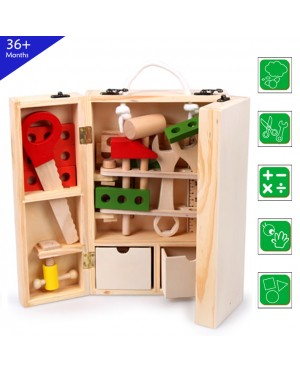 Wooden Toys Toy Tool Box Carpenter Box Perfect Birthday Gift