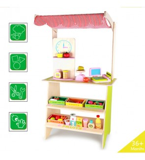 Wooden Toys Toy Fruit Vegetable Stall Shop Perfect Birthday Gift