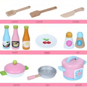 Wooden Toys Toy Kitchen Cooking Stove Set Perfect Birthday Gift Japanese Kitchen