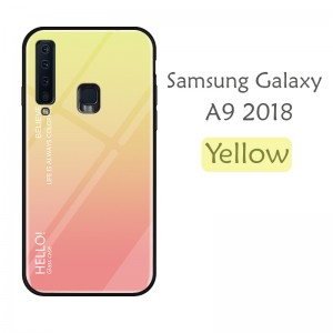 Samsung Galaxy S10 Plus S10E A9 2018 A10 A20 A50 Case Cover Casing Tempered Glass Aurora