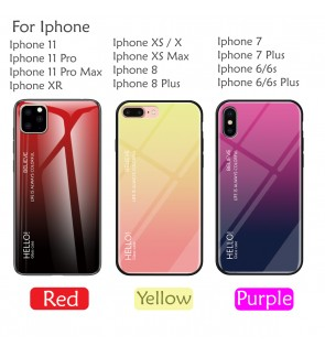 Ipohne 11 Pro Max Iphone 6 6S Plus 7 8 Plus X XR XS Max Case Cover Casing Tempered Glass Aurora