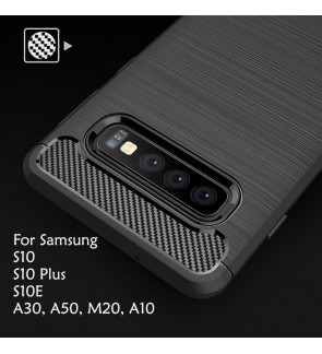 Samsung M20 A30 A50 S10 Plus S10E A10 TPU Silicone Soft Case Cover Casing Brushed