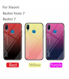 Xiaomi Redmi Note 7 Redmi 7 Case Cover Casing Tempered Glass Aurora