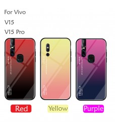 Vivo V15 V15 Pro Case Cover Casing Tempered Glass Aurora