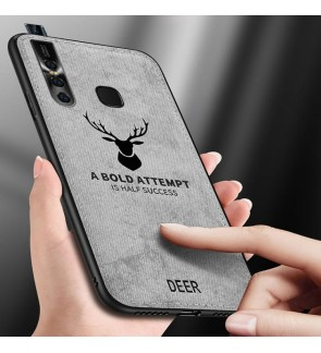 Vivo V15 V15 Pro Fabric Case Cover Casing Vintage Deer Housing