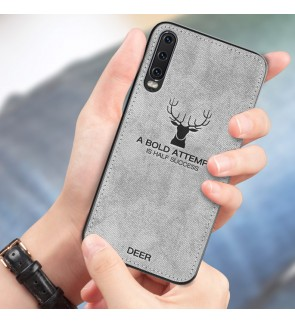 Samsung Galaxy A10 A20 A30 A50 A70 M10 Fabric Case Cover Casing Vintage Deer Housing