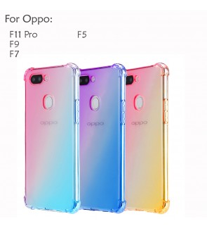 Oppo F11 Pro F9 F7 F5 Casing Case Cover Air Bag Rainbow Aurora Housing